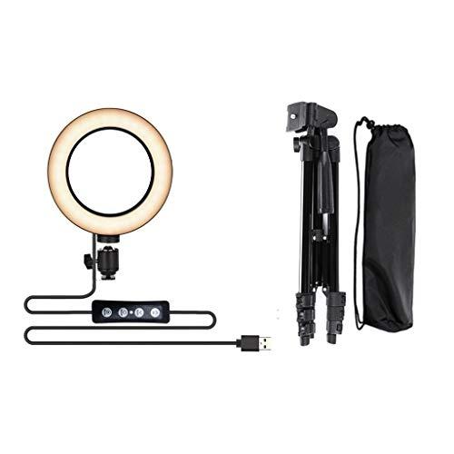 Selfie Ringlicht mit Stativ und Handy-Halter LED Ringlicht für Handy 3500-6500k 3 Lichtmodi und 11 Helligkeitsstufe für Selfie Oder Makeup