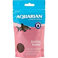 Contains one (1) AQUARIAN Complete Nutrition, Aquarium Bottom Feeder Fish Food Sinking Pellets, 100g Bag Made with a nutrient-rich blend to provide middle- and bottom-feeder fish with a complete and balanced diet Contains high levels of antioxidants ...