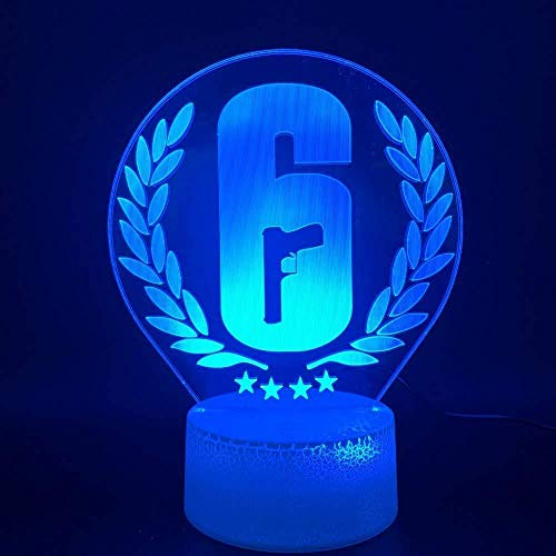 Decoración del hogar Rainbow Six Siege Night Lamp LED Touch Sensor Color Changing Child Kids Gift Game Table Night Light Rainbow 6 A-1752