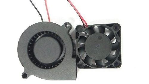 HICTOP 3D estrusore stampante Turbo ventola di raffreddamento ventilatore di CC 24V 0.9M cablaggio 50mm x 15mm Fan N4010 3D Parti della stampante (2 confezioni)
