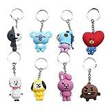 8 PCS Porte-clés,Porte-clés, Cute Cartoon Porte-clés pour Porte-Monnaie Sac à Main