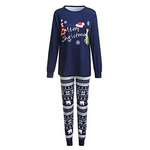 Conjuntos de Pijama para Mujer Taoytou, Conjunto de Pijamas de Navidad para Padres e Hijos 2 Piezas Tops y...