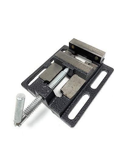 Vetrineinrete Morsa da banco 75 mm in acciaio per trapano a colonna piatta morsetto con apertura ganasce 75mm B45