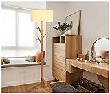 Iluminación de techo Iluminación colgante Lámpara de pie de tres patas de madera maciza nórdica Estilo japonés y coreano Colgador de la sala Lámpara de pie Dormitorio Estudio Simple lámpara vertical c