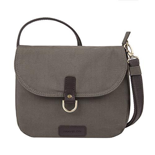 Travelon: Anti-Theft Courier Saddle Crossbody Bag - Gray