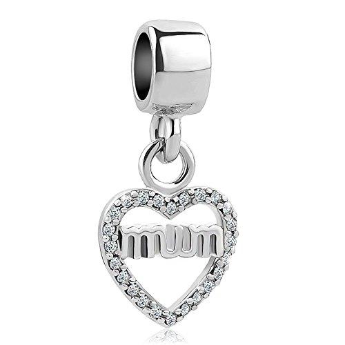 SexyMandala corazón amor mamá/hermana/amigo/niece/familia cuentas para pulseras europeas