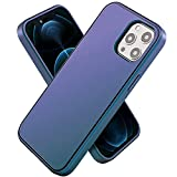 enGMOLPHY Gradient Magnetic Case Designed for iPhone 12/12 Pro 6.1inch, [Military Grade Shockproof] Hard PC Back with Soft Edges, Compatible with Magsafe Charging and iPhone 12/12 Pro -Blue