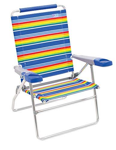 """Rio Beach 4-Position 15"""" Tall Folding Beach Chair - Stripe"""