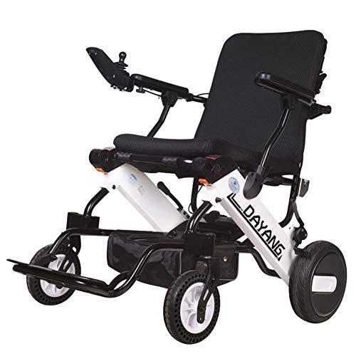 Ancianos Discapacitados Conveniente Viaje Silla de Ruedas Portátil Silla de Ruedas Eléctrica...