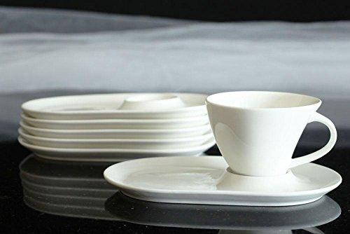 6 Tassen+ 6 Untertassen Cappuccinotassen Porzellan Cappucino Kaffeetassen Teetasse