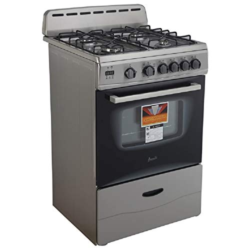 """Avanti GR2416CSS 24"""" Gas Range with Sealed Burners, in Stainless Steel"""