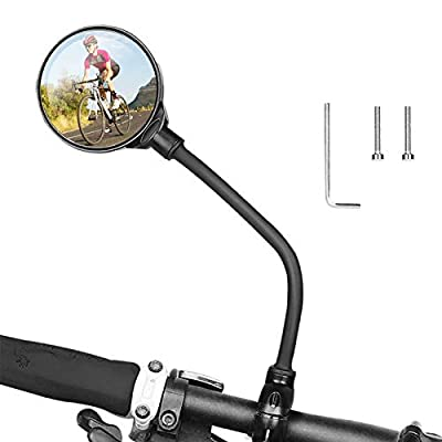hcozy 1PCS Bike Rearview Mirror,360° Adjustable Handlebar Bike Mirror Bicycle Wide Angle Rear View Mirrors for Mountain Road Bike Bicycle Electric Motorcycle