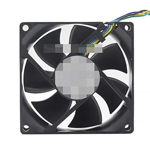 PanYFDD Ventilador de refrigeración de 80 mm x 80 mm x 25 mm, 12 V, 0,65 A, conector de 4 pines (cantidad de cuchillas: 7)