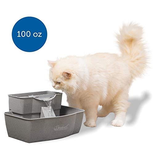 PetSafe Drinkwell Multi-Tier Cat and Dog Water Fountain - Automatic Drinking Fountain for Pets - 100 Oz. Water Capacity