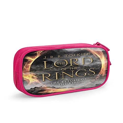 Lord of the Rings Estuche para lápices, bolsa de cosméticos de viaje, estuche con cremallera de gran capacidad, caja de almacenamiento de papelería, regalo de cumpleaños