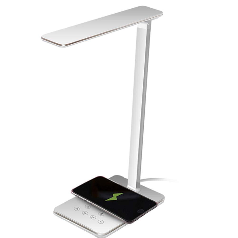 3 modes d/éclairage de lumi/ère blanche /à lumi/ère chaude Flexo LED Aigostar Mona avec base pour chargement sans fil /équivalent /à 13W 2700K-6400K Lampe de bureau tactile de 5W Argent.
