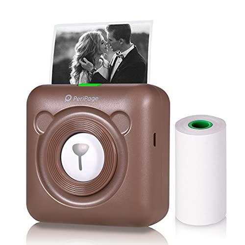 Explopur impresora de fotos,A6 Mini Impresora de bolsillo HD 304DPI Impresora térmica inalámbrica BT Imagen Foto Etiqueta Nota Notas Diario Papel de recibo Etiqueta de impresora instantánea Función de