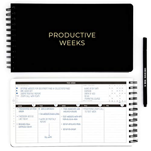 PRODUCTIVE WEEKS - Your Home / Office Productivity Planner - Smash...