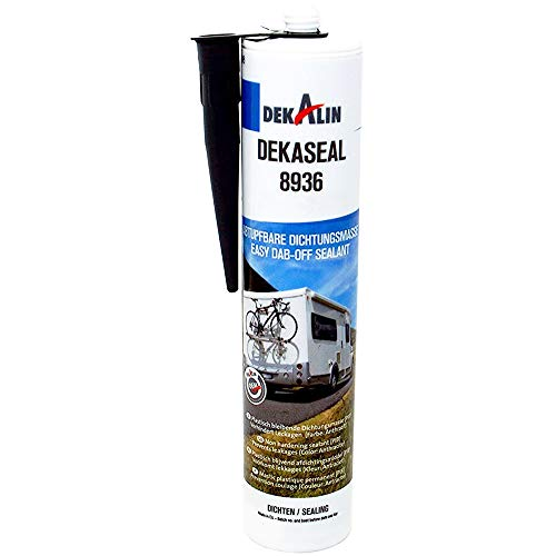 Dekalin Dichtstoff Dekaseal 8936 310ml Anthrazit für Rahmen, Abläufe oder Wohnwagen und Wohnmobil Luken