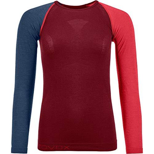 Ortovox Damen Shirt 120 Comp Light Long Sleeve W, Dark Blood, M, 8558100008