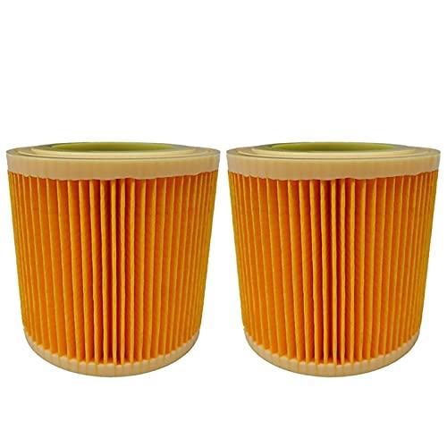 De Galen Piezas de repuesto para limpieza en el hogar, 2 unidades, filtros de aire para aspiradoras Karcher WD2250 WD3.200 MV2 MV3 WD3 WD3, cartucho de piezas de filtro HEPA (color: 2 unidades)