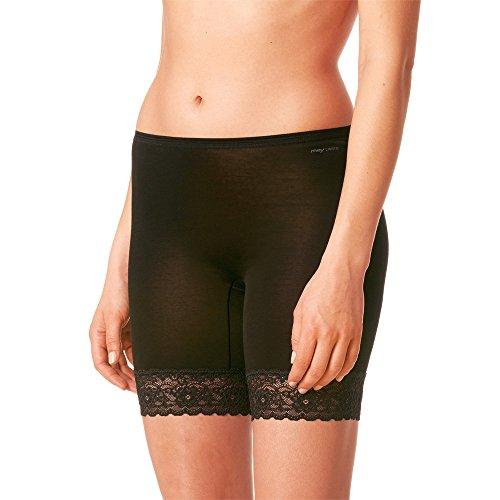 Mey 2er Pack Damen Slip mit Bein – Größe 46 – Schwarz – Leggings ohne Seitennähte – Langbeinschlüpfer – Unterhose mit langem Bein – 2er Pack Lights