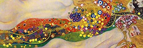 1art1 Gustav Klimt - Serpientes De Agua II, 1904-1907 Póster Impresión Artística (158 x 53cm)