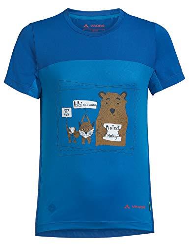 VAUDE Camiseta Unisex Infantil Solaro II, Unisex niños, Camiseta, 42292, Azul (Radiate Blue), 110-116