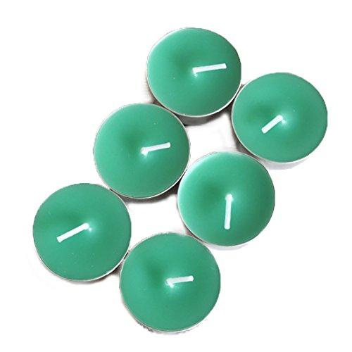 LissomPlume Velas pequeñas sin Humo Velas perfumadas Decorativas para el hogar,Boda,Halloween,Navidad,Año Nuevo-Té Verde,6 Pcs