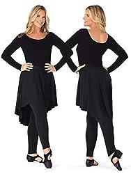 Bal Togs Womens High-Low Mock Skirt Dance Leggings BT5232