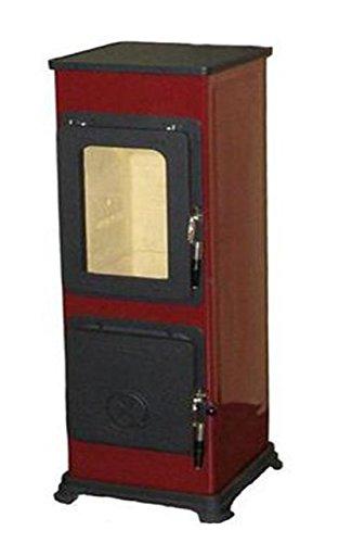 THORMA Werkstattofen Bozen, Stahl Rot, 5 kW, emaillierter Korpus, Gusstüren