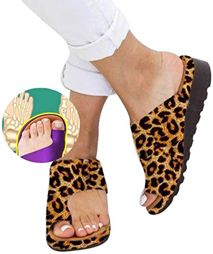 Vrouwen Comfy Platform Sandal Bunion Corrector Shoes Feet Correct Flat Sole Beach Orthopedic Slippers