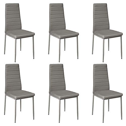 6 sedie sala da pranzo moderne liangge (Set di 6) Sedia da Pranzo