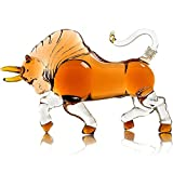 Wine mania charging bull liquor decanter 1000ml for bourbon, rum or tequila wine carafe decanter set whiskey set whiskey glass (Color : 1 Pcs)