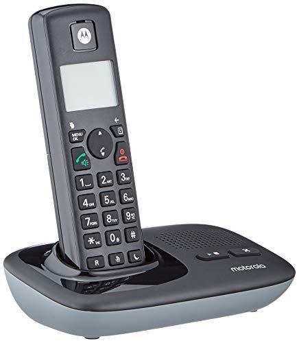 Motorola T411+ - DECT Digitales Schnurlostelefon mit Anrufbeantworter und ECO+ Modus - Schwarz