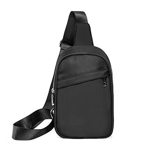 Sac de Poitrine Oxford Travailler Portable capacité Homme et femme Pack de poitrine Sac de messager Sling bag , Black