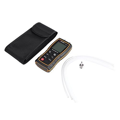 Manómetro diferencial de 11 unidades Manómetro portátil Probador de presión Gran pantalla LCD di