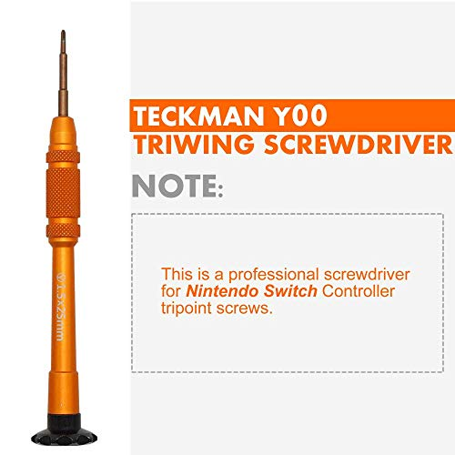 TECKMAN Nintendo Switch Triwing Screwdriver, 1.5mm Y00 Tripoint Screwdriver for Nintendo Switch Joy-Con Controller Repair