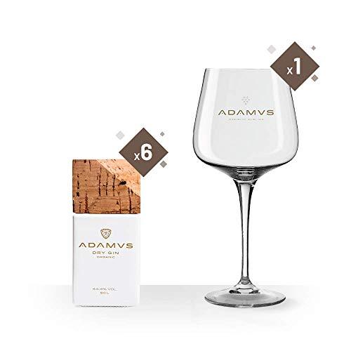 La ginebra orgánica 5cl - 6 Botellas + Adamus Vaso