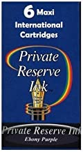 Private Reserve Maxi International Fountain Pen Ink Cartridges (6-pack) - Ebony Purple