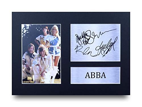 HWC Trading Abba A4 Ungerahmt Signiert Gedruckt Autogramme Bild Druck-Fotoanzeige Geschenk Für Benny Björn Agnetha Anni‑Frid Musik-Fans