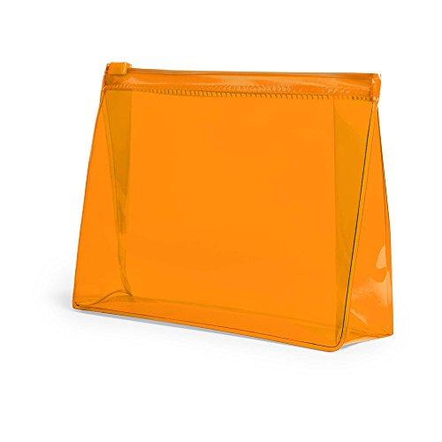 eBuyGB Trousse de Toilette de Voyage en PVC pour Produits de Toilette, Plastique, Orange, Lot de 10