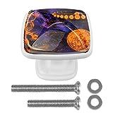 [4 piezas] pomos de aparador, coloridos pomos decorativos para cajón, decoración del hogar, espacial, Venus Saturno Júpiter Moon