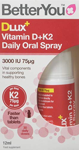 BetterYou Dlux Plus Vitamin D K2 Daily Oral Spray, 12 ml, P33476