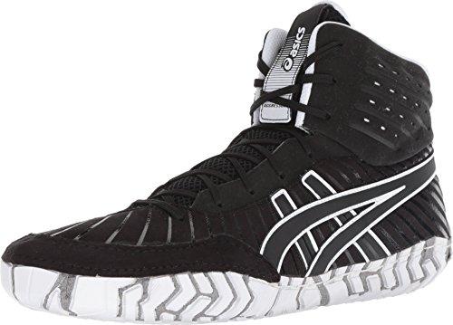 ASICS Men's Aggressor 4 Wrestling Shoes, 4, Black/Black