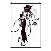 Aya Kato アートイラスト [インテリア 壁紙用] 壁紙ポスター 掛け軸 壁掛け 掛け画 タペストリー 部屋飾り 壁の絵 壁掛け ソファの背景絵画 壁アート (40*60cm);50x70cm