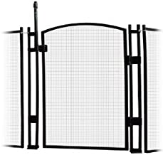 Sentry Safety Pool Fence EZ-Guard 4' Tall Self Closing/Self Latching Mesh Child Safety Pool Fence Gate Kit for In-Ground Pools - Black