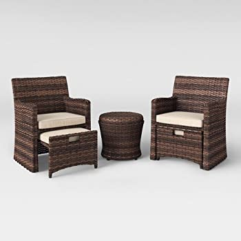 5-Piece Halsted Wicker Small Space Patio Furniture Set