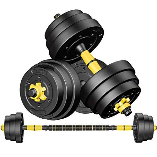 Manubrio Manubri regolabili, set bilanciere 2 in 1 gommato 10KG, manubrio fitness ecologico con dado anti-allentamento, attrezzatura da bilanciere da palestra per uomo ( Color : Black , Size : 30kg )