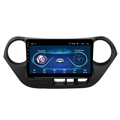 KLL Android 9 2 DIN Autoradio para Hyundai I10 2013-2016 Soporte Sistema De Navegación GPS DSP Enlace Espejo para Android Y iPhone Controles del Volante AUX/CAM/DVR Input